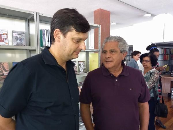 Luiz Carlos Frigerio e André Sturm visitam Centro Cultural Vila Formosa