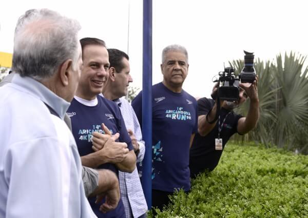 Prefeito João Doria inaugura novo paisagismo da Avenida Aricanduva e participa da premiação da Aricanduva Run