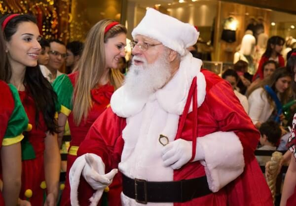 Papai Noel chega ao Complexo Tatuapé
