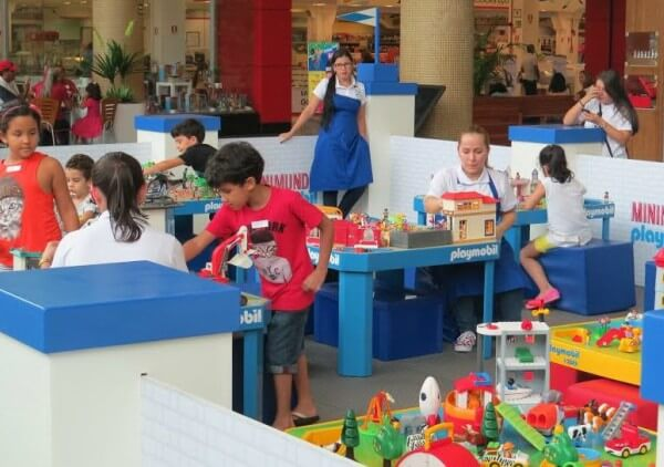 Minimundo Playmobil nas férias do Shopping Metrô Itaquera